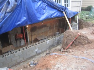 Foundation Replacement after collapse from Hurricane